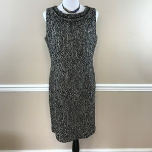 Talbots Black & Gray Boucle Wool Blend Sheath